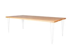 Hairpin Dining Table – White