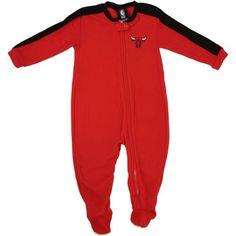 Chicago Bulls Newborn Contrast Sleeve Blanket Sleeper - Red - 6-9 months