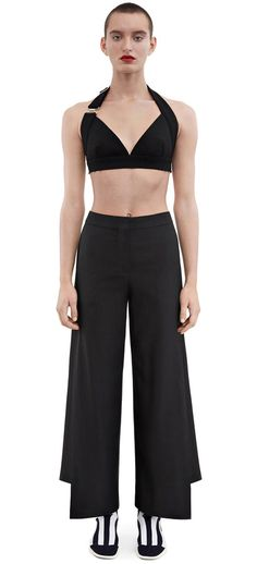 Acne Studios - Haddie crepe black - Trousers - SHOP WOMAN - Shop Shop Ready to Wear, Accessories, Shoes and Denim for Men and Women