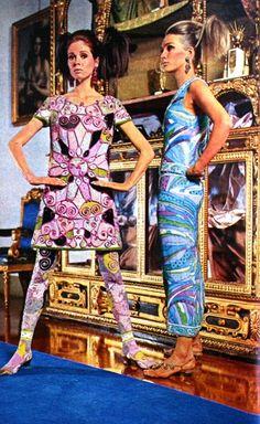 Pucci fabric of the 60's were so  fantastic! Emilio Pucci - TIQ (Dutch) magazine November 1966