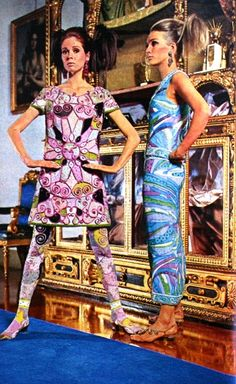 Pucci fabric of the 60's were so  fantastic! Emilio Pucci - TIQ (Dutch) magazine November 1966
