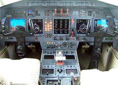 Dassault Falcon 50 Instrument Panel, corporate jet