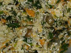Foto del paso 2 de la receta Comida muy casera de domingo arroz de verduras y pollo sudado Grains, Rice, Food, Gourmet, Spinach, Vegetables, Meals, Hot Pot, Domingo