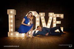 świecące litery love