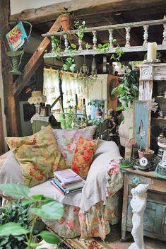 flea market showing sweet sofas, desks and a plethora