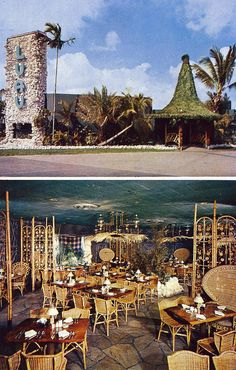 The Luau Restaurant - Miami, FL. A moment of silence for this long defunct hale of Tiki (1955-1974).