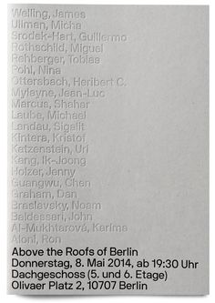 """""""Above the Roofs of Berlin"""" Exhibition Catalogue (2014) / by Neubau Berlin"""