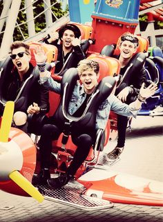 The Vamps on a roller Coaster :) <<<------- This is them riding the air ride at drayton manor! I love these adorable freaks XD Bradley Simpson, Meet The Vamps, Vamps Band, Bae, Will Simpson, British Boys, Cutest Thing Ever, T Rex, Cool Bands