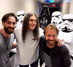 """Daniel Platzman and Ben McKee of Imagine Dragons attend """"Weird Al"""" Yankovic's show at Planet Hollywood Resort and Casino"""