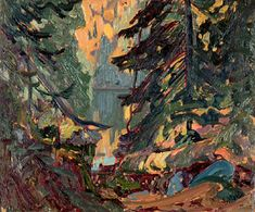 h macdonald - Near Montreal Lake, Algoma Group Of Seven Art, Group Of Seven Paintings, Paintings I Love, Canadian Painters, Canadian Artists, Landscape Art, Landscape Paintings, Landscapes, Tom Thomson Paintings