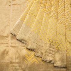 Geometry in silk Shivangi Kasliwaal Handwoven Banarasi Tissue Net Silk Sari 1012948 - / Shivangi Kasliwal - Parisera