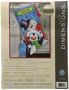 Dimensions Crafts Needlecrafts Needlepoint Stocking Kit, ...