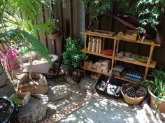 """Puzzles Family Day Care are 'Bringing the indoors out' ("""",) I like all the potted plants Holistic Education, Family Day Care, Outdoor Play Spaces, Small Fireplace, Mud Kitchen, Grilling Gifts, Summer Barbecue, Outdoor Classroom, Outdoor Learning"""