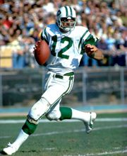 Hall of Famers » JOE NAMATH  Joe Namath is best remembered for his performance in the New York Jets' stunning 16-7 upset of the heavily favored Baltimore Colts in Super Bowl III. However, during his 13-year tenure from 1965 through 1977 he was one of the game's most exciting, proficient and publicized quarterbacks.