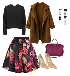 """""""Business Casual"""" by ivy-deleon-design ❤ liked on Polyvore featuring Ted Baker, T By Alexander Wang, Jimmy Choo, Givenchy, women's clothing, women, female, woman, misses and juniors"""