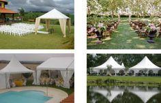 decoração e tenda para casamento ao ar livre