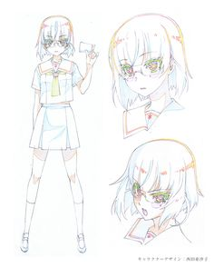 キャラクター | アニメ『ハルチカ〜ハルタとチカは青春する〜』公式サイト Character Model Sheet, Anime Character Drawing, Character Illustration, Character Concept, Character Art, Concept Art, Anime Art Girl, Manga Art, Manga Anime