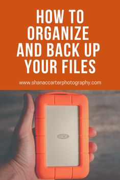Need help creating a system for backing up your images and organizing them? One of the big challenges for beginner photographers is how to organize their photos. Photography Tutorials, Photography Tips, Organizing, Organization, Never Stop Learning, Tonne, Business Advice, Maternity Photographer, Photography Business