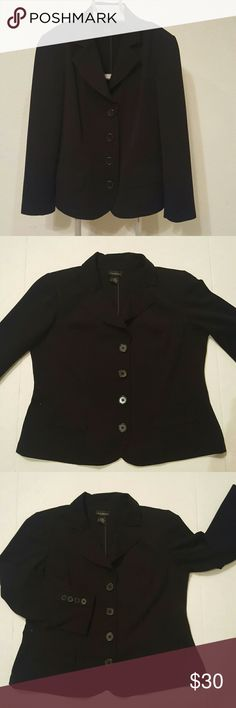 Lane Bryant Black suit jacket size 14/16 Lane Bryant 4 button Black suit jacket. Two faux pockets on the front. Has a slit in the back to allow for more room as needed. Buttons on sleeves for a polished look. Size 14/16W 62% polyester, 33% rayon, 5% spandex. EUC approximate measurements in listing Lane Bryant Jackets & Coats Blazers