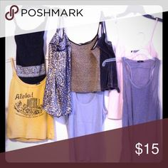 Various tanks & stripped summer tops. Gap, American Eagle, New York & Co. Tops GAP Tops Tank Tops