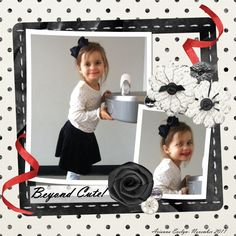 Black & White Polka Dots Page...with a splash of red.