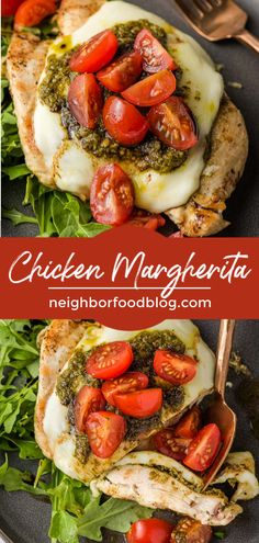 This Grilled Chicken Margherita is an amazing summer dinner! Juicy grilled chicken loaded with mozzarella cheese, pesto, and tomatoes is a 20 minute meal the whole family will love. Healthy Grilling, Grilling Recipes, Beef Recipes, Cooking Recipes, Healthy Recipes, 30 Min Meals, Quick Meals, Easy Dinner Recipes, Summer Recipes