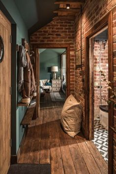 The Sanctuary – Hampshire, UK Brick plus blue: colors! The Sanctuary – Hampshire, UK Brick plus blue: colors! The Sanctuary – Hampshire, UK Brick plus blue: colors! Sheltered Housing, Uk Homes, Home Fashion, Diy Fashion, Cozy House, Style At Home, My Dream Home, Home Interior Design, Brick Interior