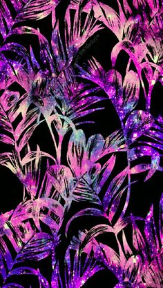 Galaxy jungle iPhone/Android wallpaper I created for the app CocoPPa!