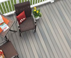 Have a deck that's the place to be, and start by choosing Fiberon Pro-Tect Decking from Central. With its deep, rich tones with subtle streaking & realistic wood grains, it's available in Chestnut & Grey Birch finishes with square or grooved edges. With exceptional stain & fade resistance, this is a low-maintenance choice for you. It also comes with a 20 Year Performance Stain & Fade Limited Warranty!