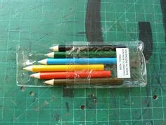 6 Pack of Mini Colored Pencils- great addition to the Mandela themed cards I am making!