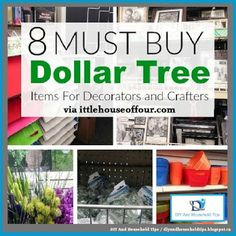 DIY And Household Tips: 8 MUST BUY Dollar Store items for Decorators and C...