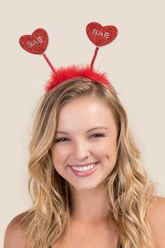 Bae Glitter Heart Headband