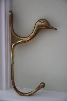 Your place to buy and sell all things handmade Hat Hooks, Polished Brass, Accent Pieces, Happy Shopping, Buy And Sell, Wall, Stuff To Buy, Vintage