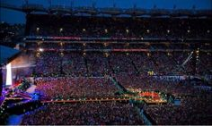 One Direction - Croke Park - May 23, 24, 25 2014 - Sold out three consecutive nights.  Croke Park has a capacity of 82,300 and is the fourth largest stadium in Europe.
