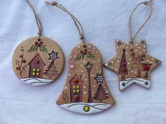 Polymer Clay Ornaments, Polymer Clay Crafts, Salt Dough Ornaments, Xmas Ornaments, Christmas Angels, Christmas Crafts, Christmas Decorations, Pottery Handbuilding, Christmas Accessories