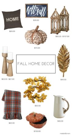 Get inspired to decorate for fall with these home decor picks on Modish & Main.