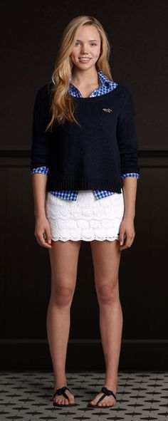 This Lace Layered Skirt from Hollister is perfect for the Summer!
