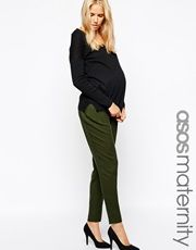 ASOS Maternity Peg Trouser With Elastic Waist