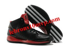 Adidas AdiZero Rose 3.0 Shoes Black White Red Basket Rouge 28e2b7fbc
