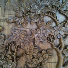 Hand carved wood @Huntington Library.  Love this.