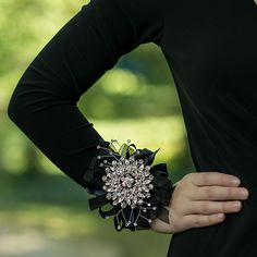 Breakfast at Tiffany's Corsage Shown on Prom Girl's Wrist