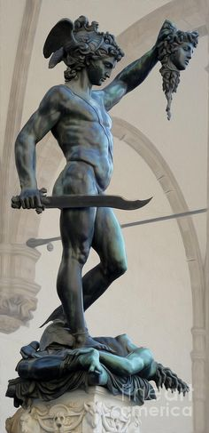 Florence Perseus By Cellini Photograph - Florence Perseus By Cellini Fine Art Print