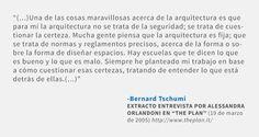 Frases: Bernard Tschumi