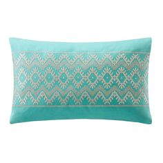Echo Mykonos Cotton Embroidered Oblong Throw Pillow - Overstock™ Shopping - Great Deals on Echo Throw Pillows