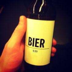 """""""Tonight on the agenda. #bierbier"""""""