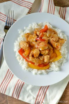 A simple and delicious recipe for Mandarin Orange Chicken. Great served over Coconut Rice.