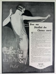 La Velouty De Dixor vintage advertising poster French by OldMag