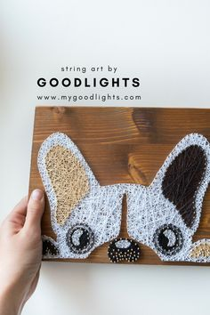 French bulldog wall decoration for dog lovers or anyone else who fancies fun and modern silhouette wall decors, frenchie lovers wall decor - French bulldog silhouette wall decor perfect for dog lovers - Elf Christmas Decorations, Cute Boyfriend Gifts, Diy And Crafts, Arts And Crafts, Nail String Art, String Art Patterns, Thread Art, Pin Art, Dollar Store Crafts
