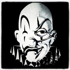 Joker brand Gangster Clown, Joker Brand, Chicano, Tattoo Designs, Darth Vader, Angel, Drawings, Jokers, Drawing Ideas