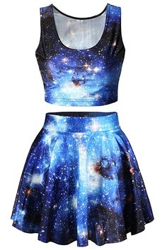 women's Digital Print Crop Tank Top Skater Skirt 2 Pieces Set Dress - Blue - # Source by reillyfarrier clothes outfits Teen Fashion Outfits, Mode Outfits, Outfits For Teens, Girl Outfits, Fashion Dresses, Fashion Women, Style Fashion, Ladies Outfits, Fashion Fall